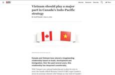 越南是加拿大在未来的重要伙伴