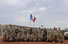 联合国维和力量视察越南野战医院的综合能力