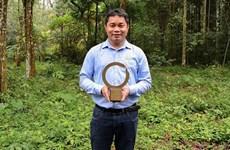越南首家野生动物保护者荣获世界最具权威的环境保护奖