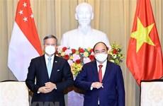 越南国家主席阮春福会见新加坡外长