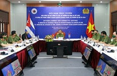 越南公安部长与古巴内务部长举行会谈