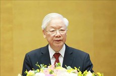 越共第十三届中央委员会第三次全体会议在河内隆重开幕