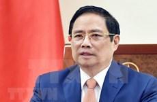 越南政府总理范明政与印度共和国总理通电话
