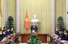 越南国家主席阮春福会见越南韩国人协会