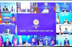 东盟与中国外交部长视频会议:优先配合有效控制新冠肺炎疫情 相互支持可持续复苏