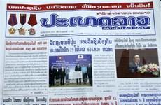 老挝媒体重点报道越南国家主席阮春福访老之旅