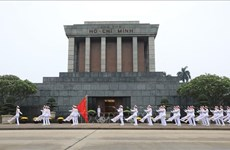 胡志明主席陵墓:越南民族神圣的空间