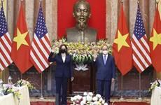越南国家主席阮春福会见美国副总统卡玛拉•哈里斯