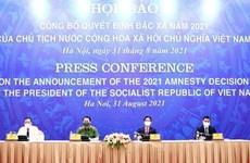 越南国家主席办公厅举行记者会 正式对外公布2021年特赦令