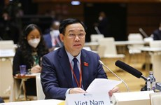 第五次世界议长大会:越南国会主席王廷惠就应对新冠肺炎疫情和气候变化发表讲话