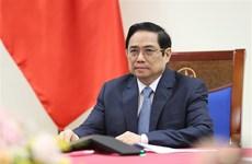 越南政府总理范明政与奥地利总理库尔茨通电话