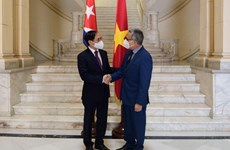 越南外交部部长裴青山会见古巴外交部代理部长冈萨雷斯