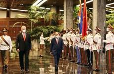 古巴国家主席主持仪式 欢迎阮春福主席对古巴进行正式访问