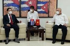 越共中央内政部领导会见古巴共产党领导