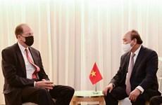 第76届联合国大会:越南国家主席阮春福会见部分国家和国际组织领导