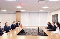 国家主席阮春福会见美国各大企业和集团领导