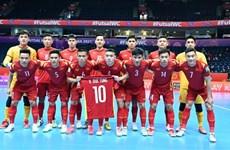 立陶宛2021国际足联室内五人制足球世界杯:越南队2-3败给俄罗斯队止步于16强赛