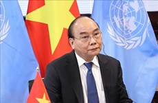 越南国家主席阮春福出席全球抗击新冠肺炎疫情峰会
