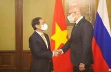 越南外交部长裴青山会见俄罗斯副总理车尔尼申科