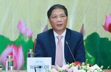 中央经济部部长陈俊英会见美国东盟商业理事会代表团