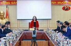 越共中央组织部部长张氏梅会见接任前的驻外大使和总领事