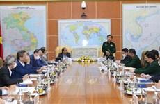 国防部副部长黄春战会见越南驻外代表机构首席代表