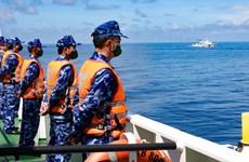 越中海警2021年第二次海上联合巡逻圆满结束