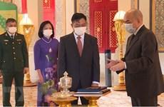 柬埔寨国王诺罗敦•西哈莫尼:越南与柬埔寨的全面合作关系不断向前发展