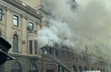 越南驻莫斯科商务处大楼发生火灾 幸无人员伤亡