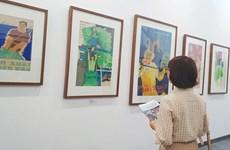 关于建国卫国事业的宣传画展在河内举行