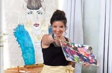 以色列女画家有关越南风土人情的画展开展