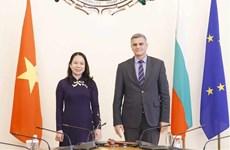 越南国家主席武氏映春会见保加利亚看守总理和外交部长