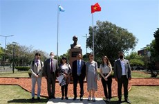 布宜诺斯艾利斯市向胡志明主席致敬