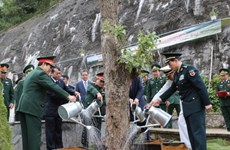 越中两国国防部长参观越南高平省北坡国家级特殊遗迹区(组图)