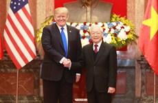 越共中央总书记、国家主席阮富仲会见美国总统唐纳德·特朗普(组图)