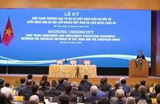 越南政府总理阮春福出席《欧盟与越南自由贸易协定》和《欧盟与越南投资保护协定》签署仪式(组图)