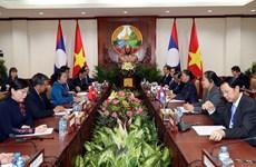 越南国会主席阮氏金银对老挝进行访问(组图)