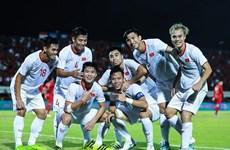 2022年卡塔尔世界杯预选赛:击败印尼队 越南球员喜庆胜利(组图)