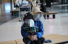 组图:越南将340余名公民从日本接回国