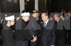 组图:越南党和国家领导出席武卯同志遗体告别仪式