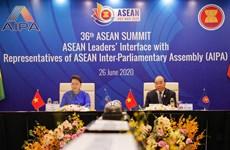 组图:东盟领导人与东盟议会联盟大会代表对话会召开