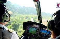 宁平省推出直升机观光旅游产品