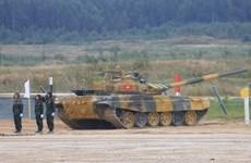 """组图:国际军事比赛-2020:越南参赛队在""""坦克两项""""比赛第二组名列第二"""