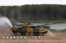 越南坦克队在2020年莫斯科国际军事比赛取得亮眼成绩