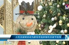 点亮圣诞树活动为游客营造浓郁的圣诞节氛围