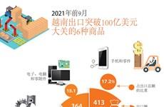 图表新闻:2021年前9月越南出口突破100亿美元大关的6种商品