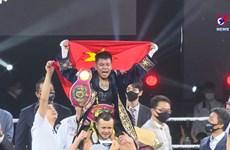 越南运动员获得世界拳击组织轻量级国际拳王金腰带