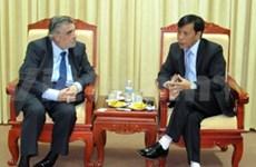 世界教堂协会与越南友谊组织联合会进行会谈