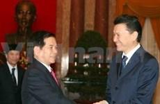 阮明哲主席会见国际象棋世界联合会主席