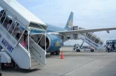 金兰国际机场首次接受国际航班